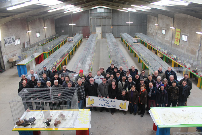 Les membres de l'ICF accompagnés d'éleveurs Européens et de la Société Champenoise d'Aviculture.