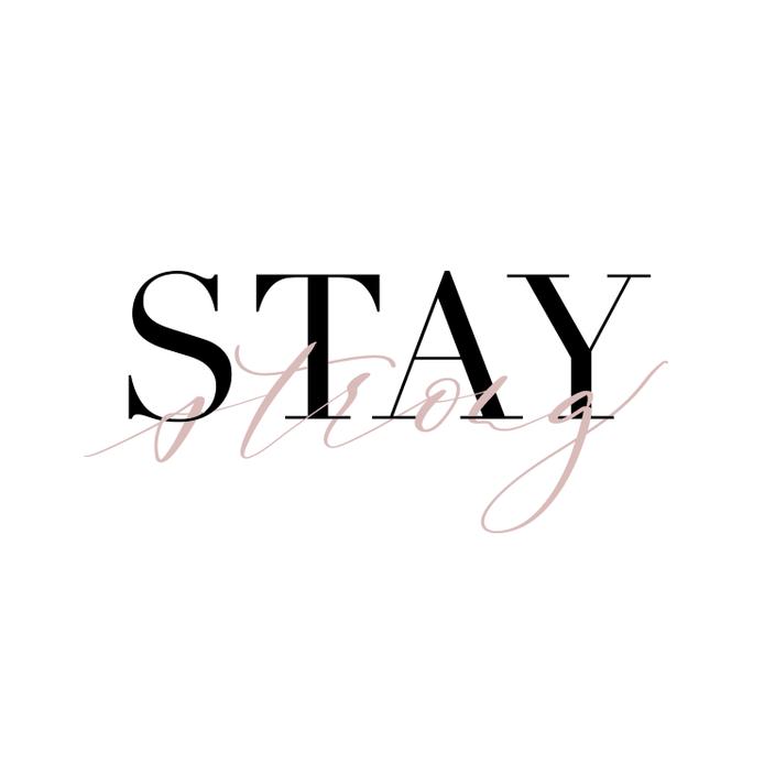 Stay Strong - ein Lettering auf dem iPad mit Procreate - inklusive Schritt für Schritt Anleitung