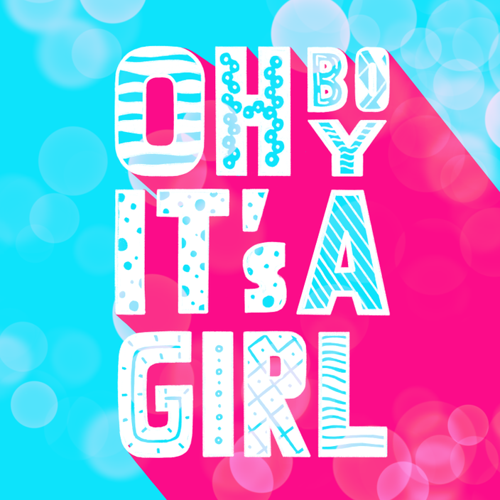 Digitales Handlettering: Oh Boy it's  girl (Lettering von alexander_flemming bei den Letter Lovers)