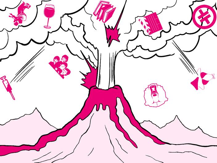 Brodelnder Vulkan