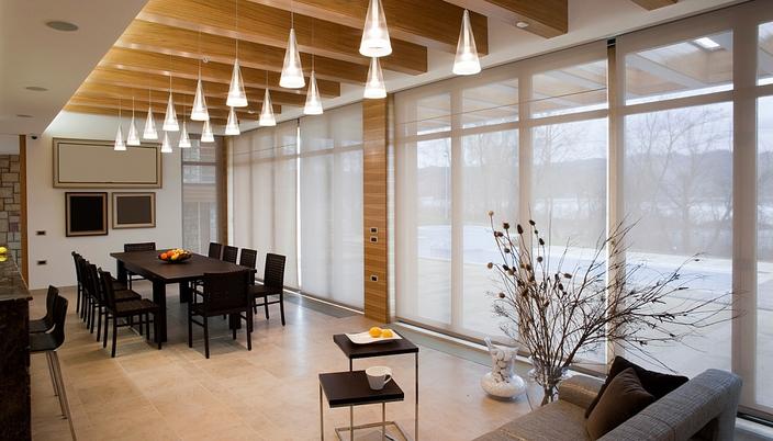 Рулонные шторы для офиса с тканью Скрин 5%