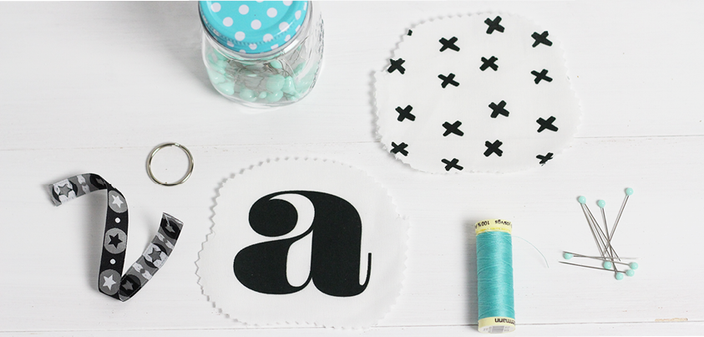 Inhalt des Nähpaketes Schlüsselband der kleinen Designerei: schlüsselanhänger selber machen