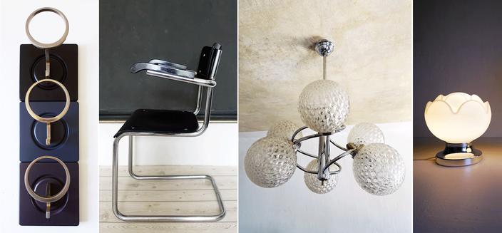 Leuchten und Interieur im modernen und skandinavischen Vintage Stil.