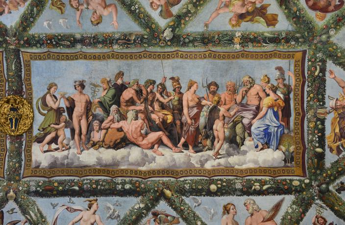 Raphaël, Le Concile des dieux (vers 1516-1518) - Villa Farnèse, Rome