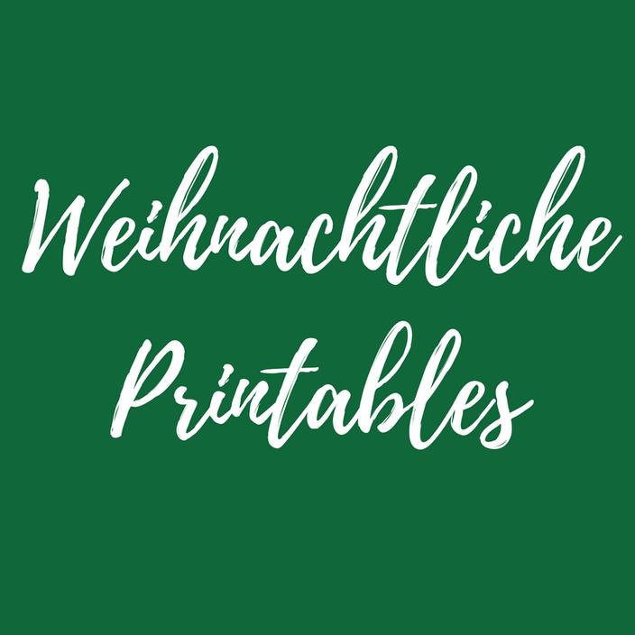 Weihnachtliche Printables