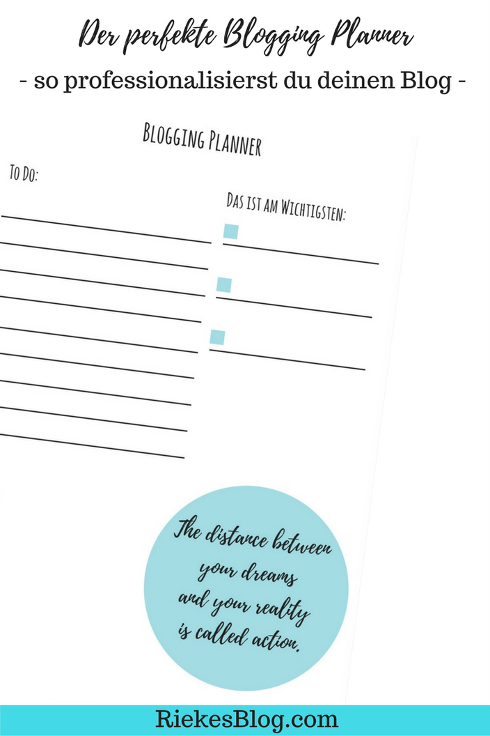 Vorschau Post Blogging Planner
