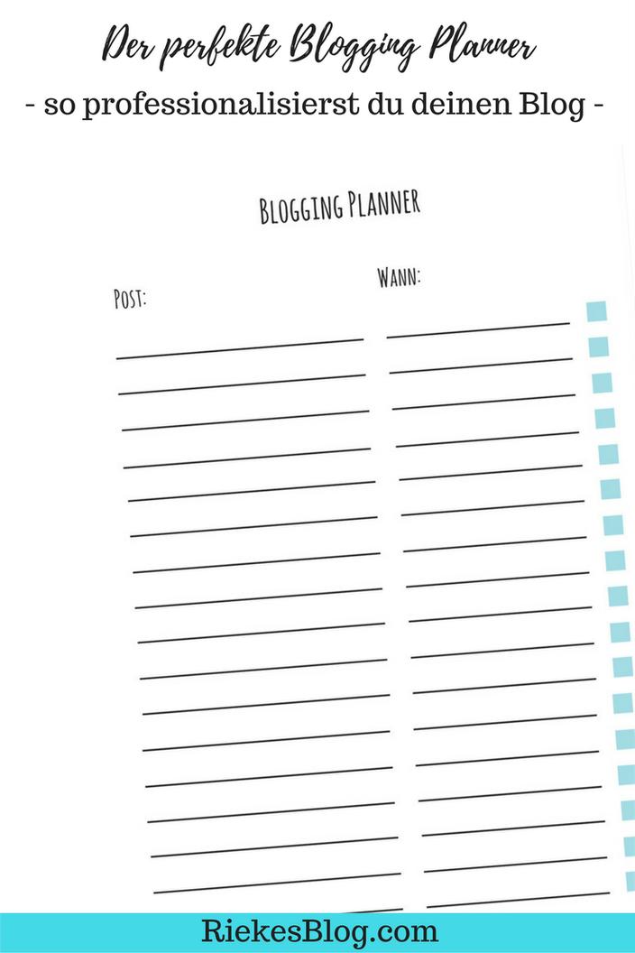 Blogging Planner Vorschau Postübersicht