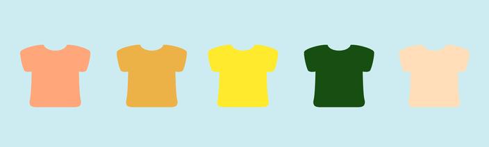 Graphik T-Shirts nebeneinander