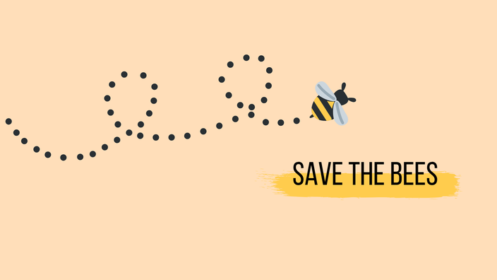 Save the bees Wallpaper RiekesBlog