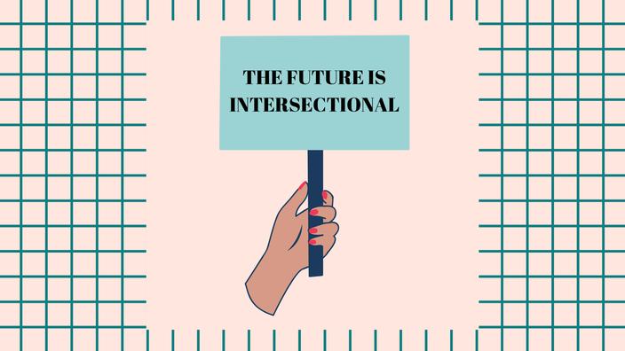 "Schild mit Aufschrift ""The future is intersectional"" RiekesBlog"