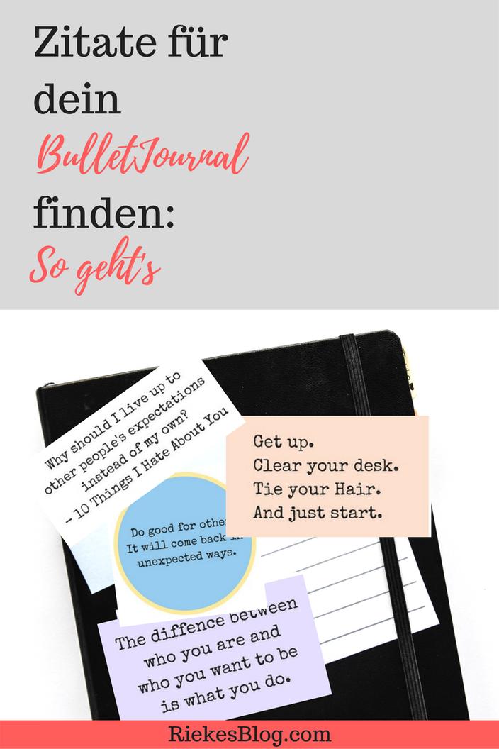 Sprüche für dein BulletJournal finden: So geht's