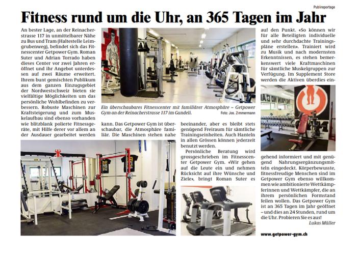 Gundeldinger Zeitung Ausgabe vom 29. / 30. August 2018