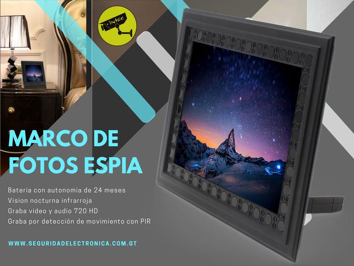 marco de fotos con camara espia Guatemala
