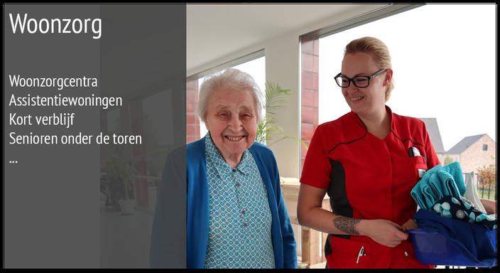 Verzorgende helpt oude dame in het woonzorgcentrum