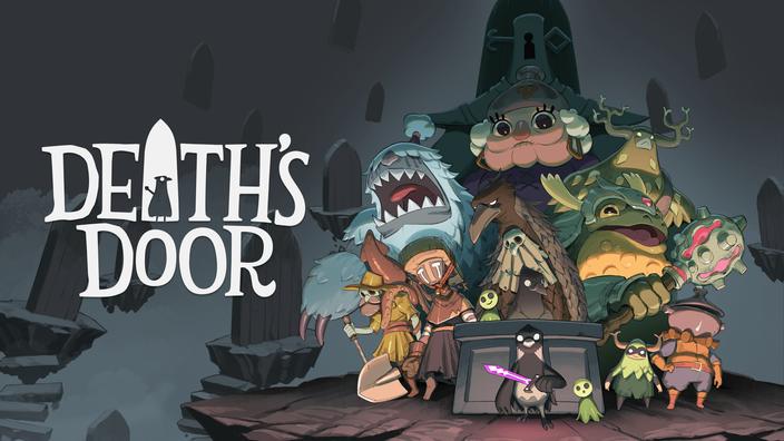 Das Titelbild zu Death's Door von Acid Nerve und Devolver Digital