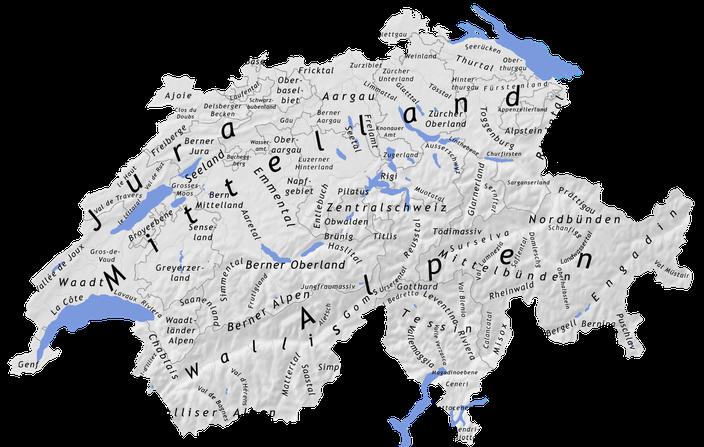Die Schweizer Regionen