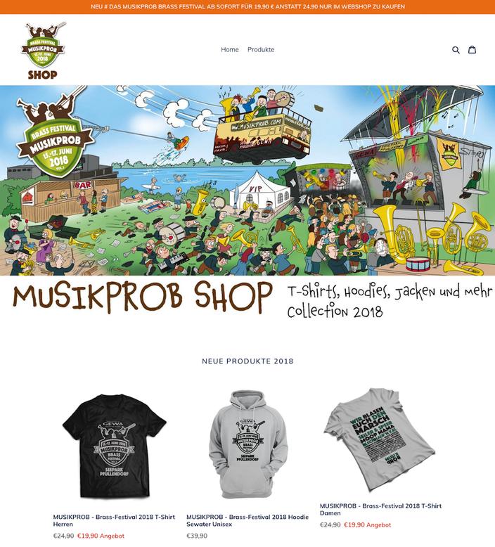 MUSIKPROB SHOP - Shirts und Hoodies 2018
