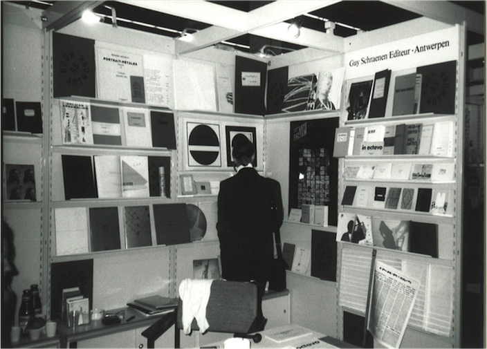 "Publishing house ""Guy Schraenen éditeur"" at the international bookfair Frankfurt, 1990"
