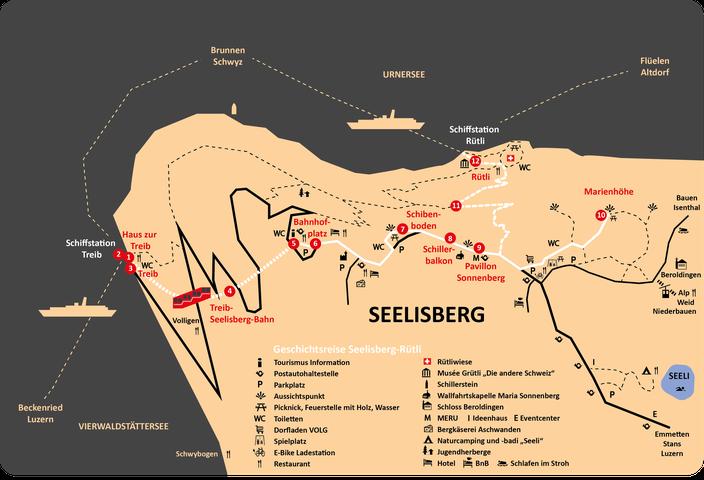 12 Stationen von der Treib über Seelisberg zum Rütli