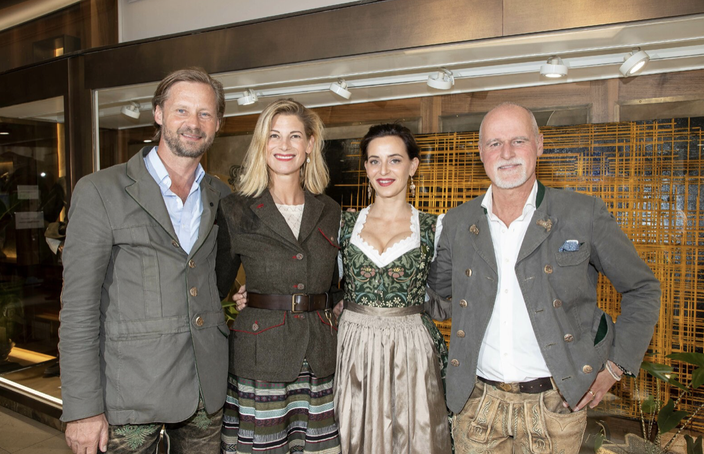 v.l.n.r. Max Mayr Melnhof, Daniela Meindl, Lena Hoschek und Markus Meindl