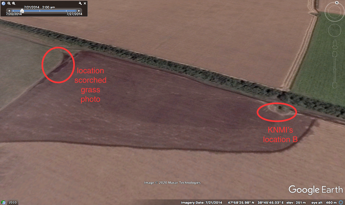 Photos Millier were taken 300 meters west from launch location designated by KNMI