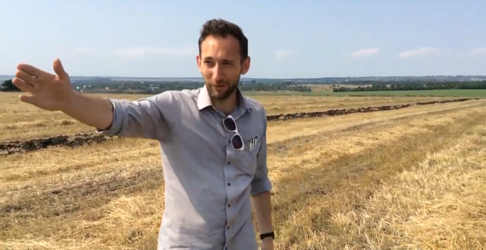 Roland Oliphant of The Telegraph ca. 300 m from alleged launch site. Still from video