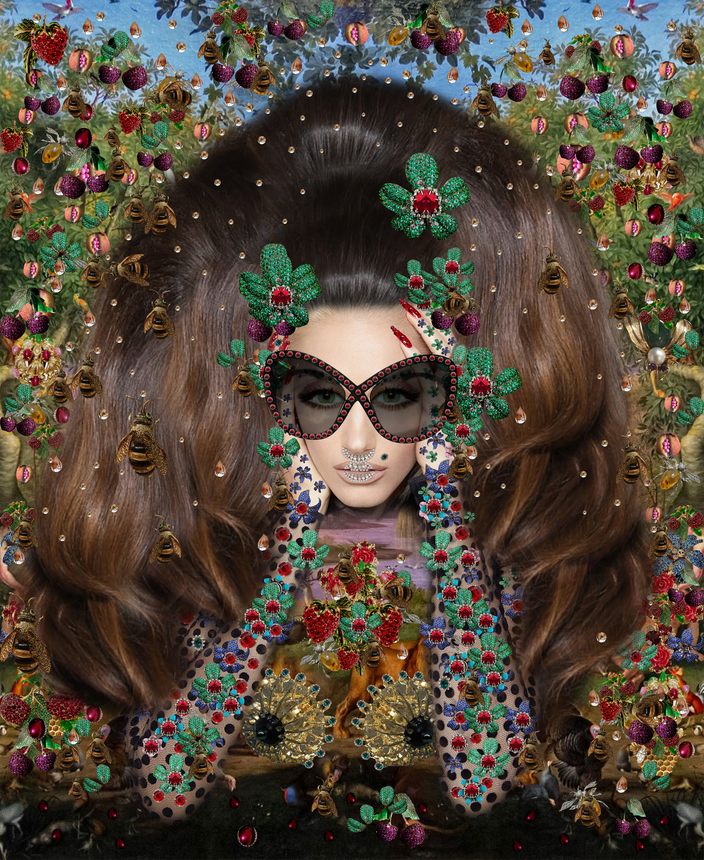 Donna Fantasia - Popart Mixed Media - Inspiration Gwen Stefani