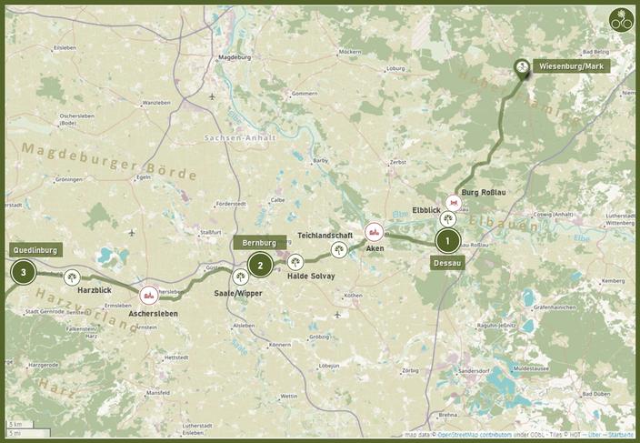 1. Abschnitt: Vom Fläming ins Harzvorland