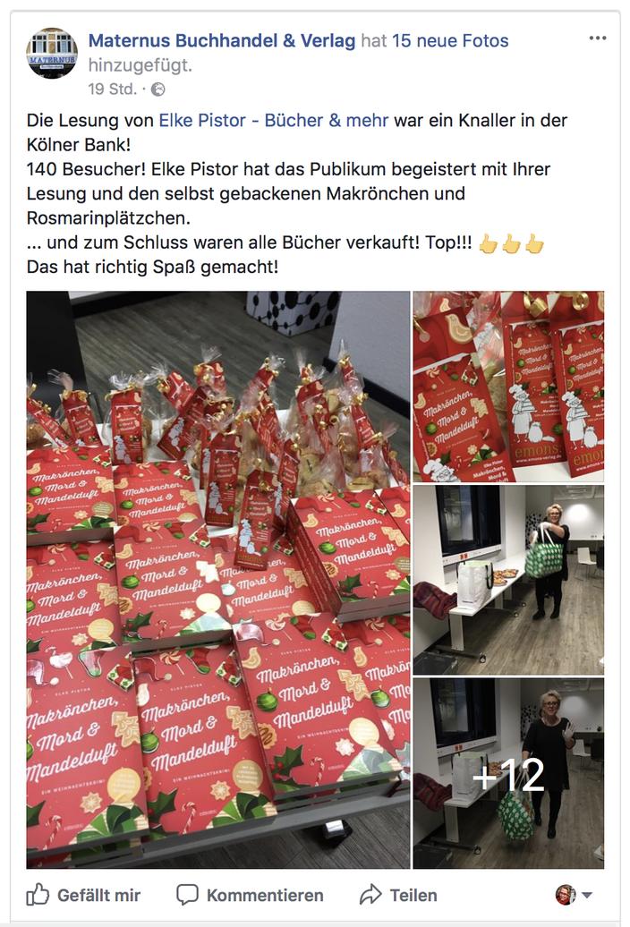 Quelle: Facebookseite der Maternus Buchhandlung und Verlag. Fotos: U. Jünger