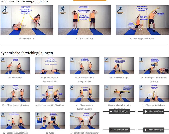 alle Stretchingübungen auf einen Blick - zur Auswahl KLICK auf das Bild
