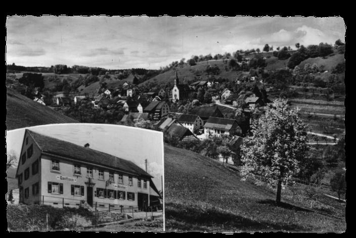 Gasthaus Hirschen mit Blick ueber Dossenbach