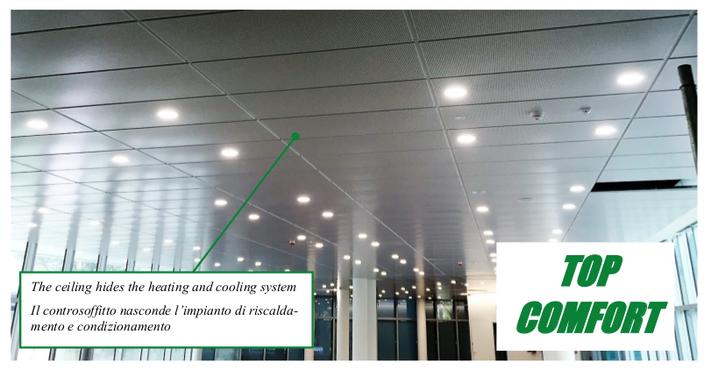 Sistema di climatizzazione invisibile a soffitto