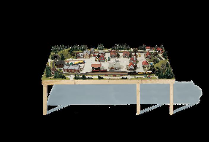 Modellbahnanlage Unterbau