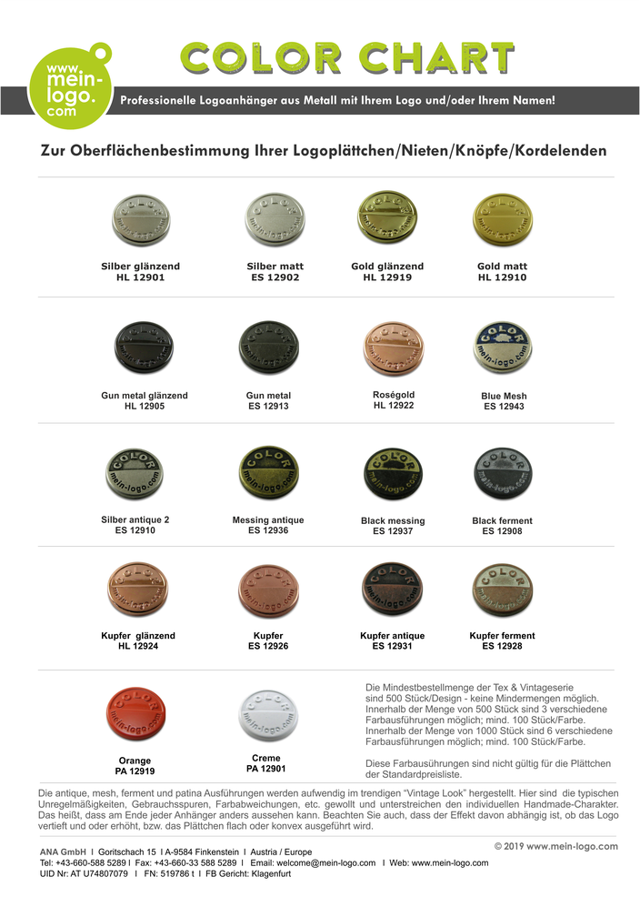 Logoanhänger, Logoemblem, Logoplaketten, Logoplättchen, Logo Schilchen Metall, Logoanhänger vintage