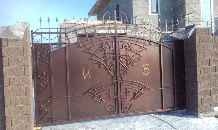 ворота кованые откатные купить тюмень