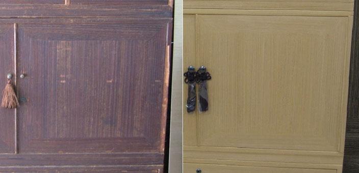 桐たんす開き戸修理