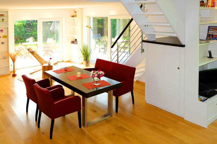 Ferienhaus Ambiente am Dümmer See - Lounge Essbereich in tollem Design