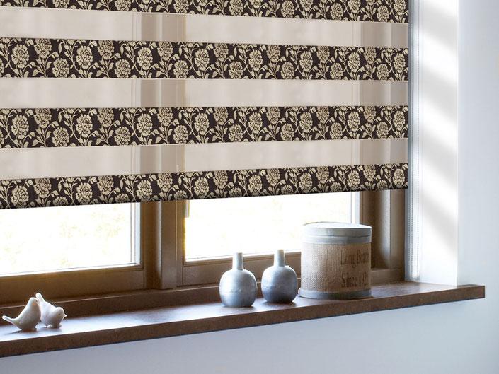 Рулонные шторы Зебра с тканью Персия