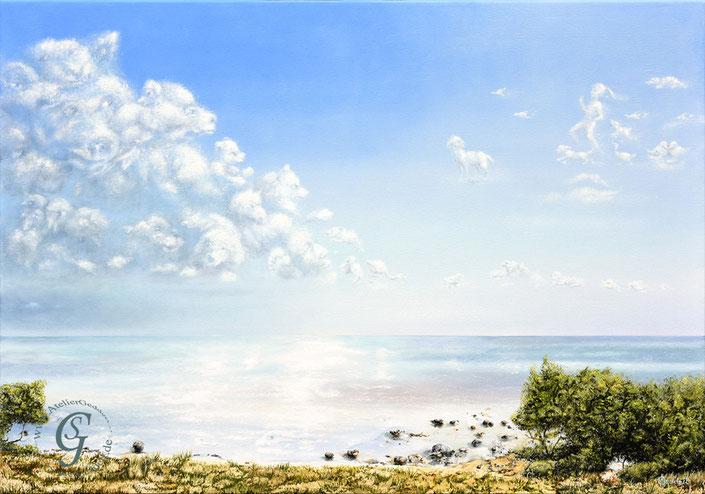 Bärplay / Bearplay , 100x70 cm , Öl auf Leinwand