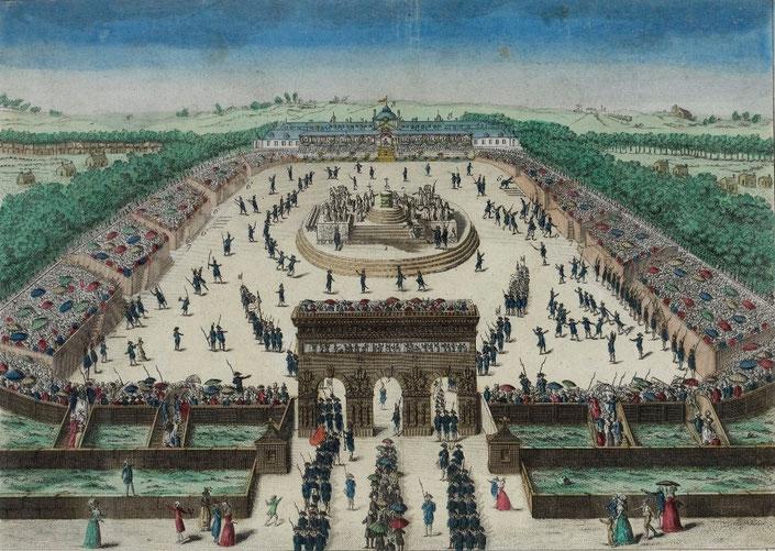 Fête de la Fédération le 14 juillet 1790 sur le Champ-de-Mars. Musée de la Révolution française - Vizille