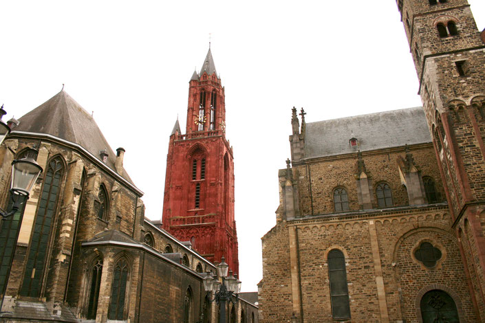 Maastricht Netherlands ofpenguinsandelephants Sint Janskerk red belltower