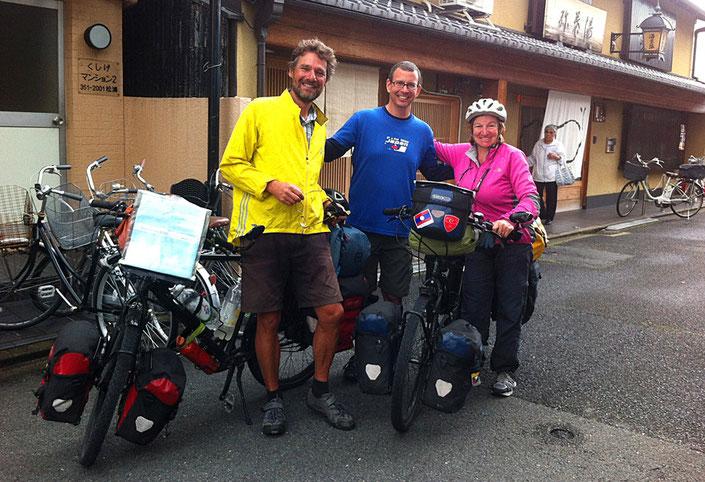 Wir hatten eine tolle Zeit bei unserem Warmshowers-Gastgeber Ken in Kyoto.