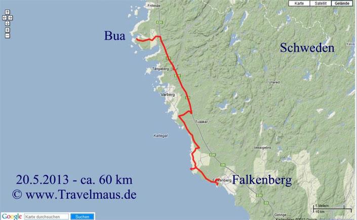 Bua-Falkenberg ca. 60 km