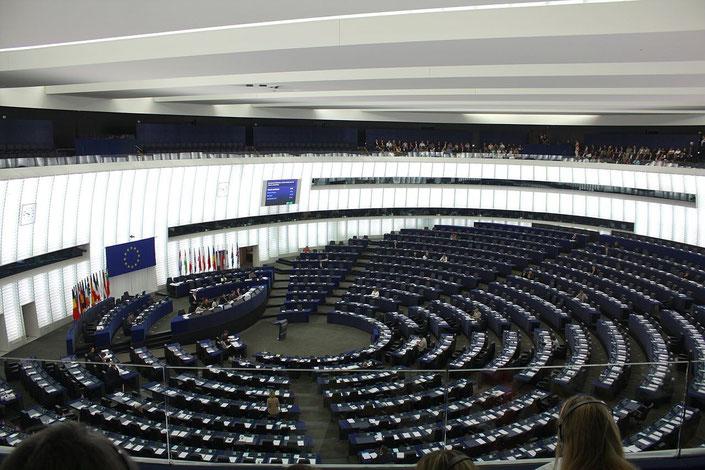 Plenarsaal des Europäischen Parlamentes