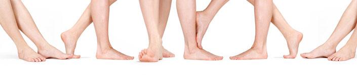Auch natürlich schöne und gesunde Füße wie hier brauchen regelmäßige Pflege, Behandlung und Kontrolle.