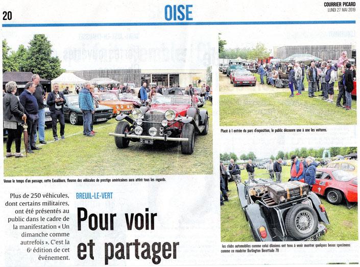 27 mai 2019 - Courrier Picard - Première partie de page