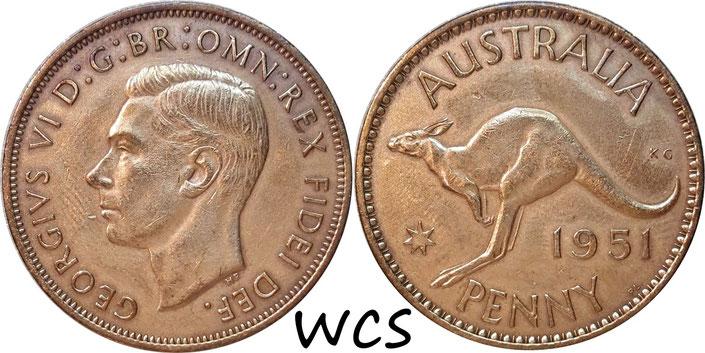 Australia 1 Penny 1951 PL KM#43 VF (cleaned)