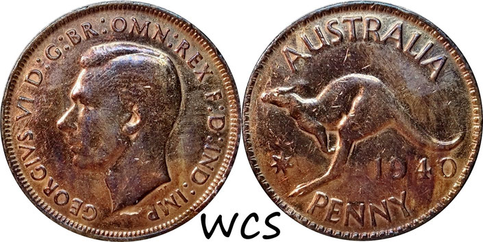 Australia 1 Penny 1940 KM#36 F (altered surfaces)