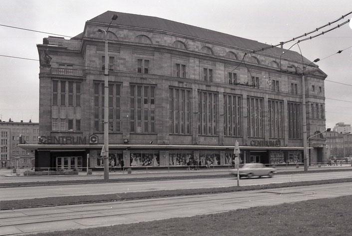 Bahnhofstraße, Kaufhaus Centrum, Karl-Marx-Stadt, 1980, 80er Jahre, DDR, Deutsche Demokratische Republik