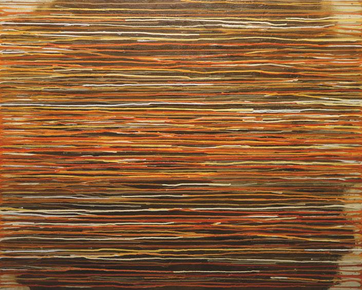 abstraktes Bild · Gelb · Orange · Rot · Verlauf · Leinwand · Patrick Öxler · Wiede Fabrik · Atelier